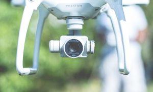 Close na câmera de um drone Phantom