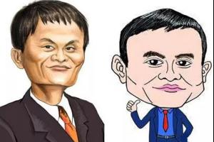Caricatura de Jack Ma